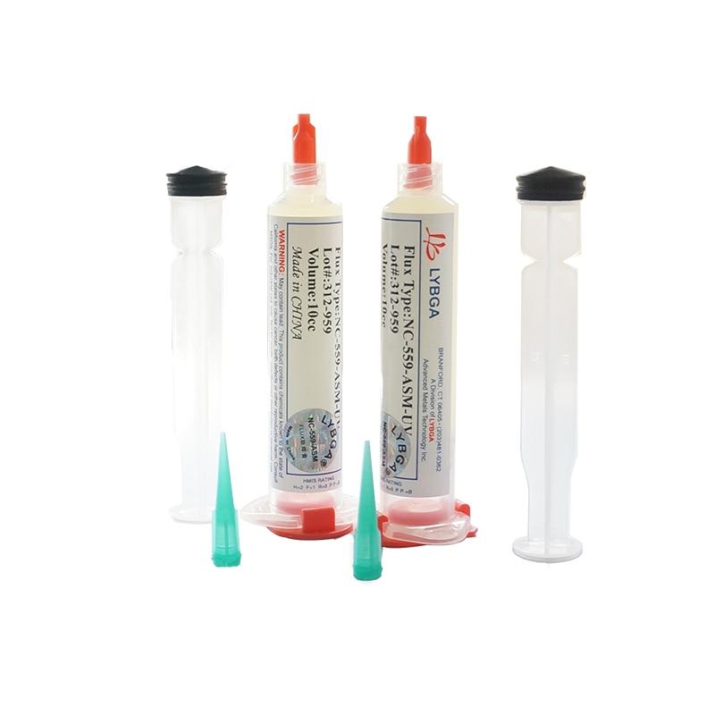 4pcs 10cc NC-559-ASM-UV Flux Paste Lead-free BGA Solder Paste Flux With Needles Piston Syringe Putter