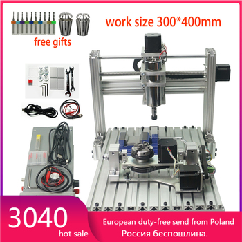 5axis CNC 3040 metal DIY cnc engraving machine ,4 Axis CNC Router,PCB Milling Machine,Engraving frame 5 axis cnc milling machine 5 axis diy cnc 3040 with 400w spindle motor usb port mach3 er11 collet type for pcb pvc woodworking cnc milling machine
