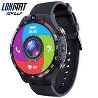 LOKMAT-reloj inteligente APPLLP 4 para hombre, dispositivo con Android 10,7, Wifi, cámara Dual completamente táctil redonda, 4G de RAM, 4G de ROM, GPS, 128G