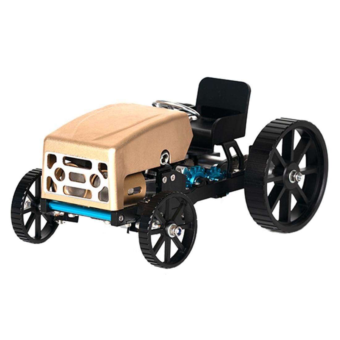 Творческий цельнометаллический Ретро модель автомобиля высокий вызов в собранном виде электрическая модель комплект