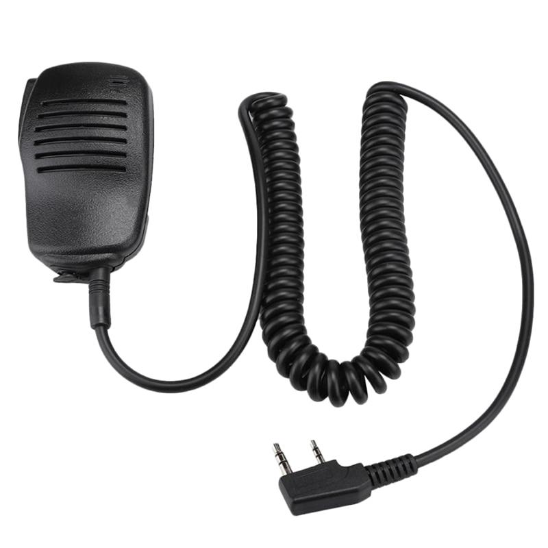 2 Pin Ptt Heavy Speaker Mic Waterproof For Kenwood Puxing Wouxun Tyt Hyt Baofeng Uv5R 888S Radio