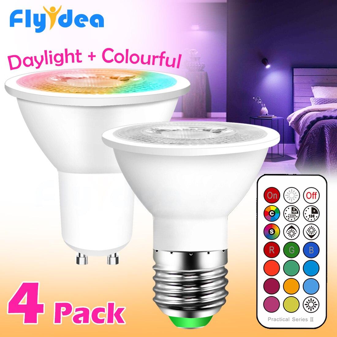 GU10 Светодиодная лампа E27 умный светильник лампа цветной Точечный светильник неоновая вывеска RGB лента с контроллером светильник Светильник...