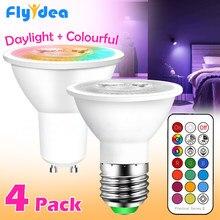 Gu10 conduziu a lâmpada e27 luz inteligente bulbo cor spotlight neon sinal rgb fita com controlador lightlightlightlighting cob 220v 110v pode ser escurecido luz da noite