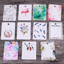 30pcs 5X7cm Earrings Necklace Display Cards Cardboard Jewelry Packaging Hang Tag Card Ear Stud Paper Card for Jewelry Making DIY