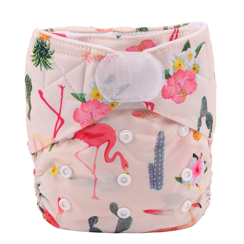 [Sigzagor] 1 тканевый подгузник с карманами для детей, подгузник с застежкой-липучкой, с широкими полосками на талии - Цвет: DV8