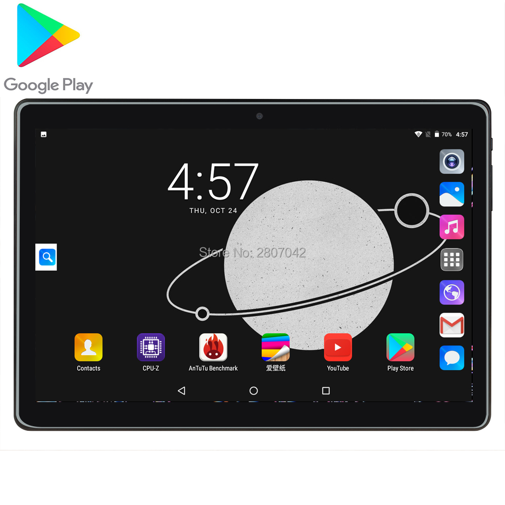 2020 3G Android 7.0 OS 10.1 Inch Tablet Quad Core 2GB RAM 96GB ROM 1280*800 Dual SIM Cards Tablet 10.0 2.5D