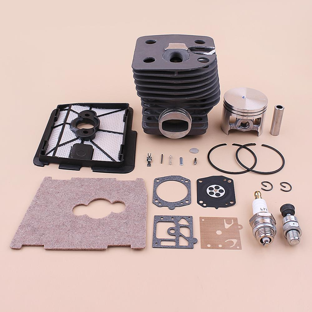 46mm Cylinder Piston Kit For Stihl FS550 FS420 FS420L FS550L Air Filter Cover Decompression Valve Repair Kit