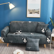 Couch Slipcover New Cartoon Dog Pattern Elastic Durable Polyester Sofa Cover for Single/Double/Three/Four Seat Sofa Home Decor