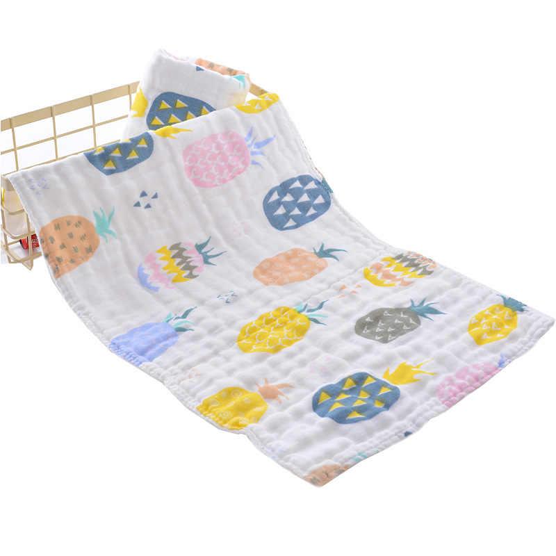 6 層 25*45 センチメートルソフトモスリン 100% コットンベビーかわいい漫画新生児バスタオル幼児バスコットンモスリンフェイスタオル洗濯タオル