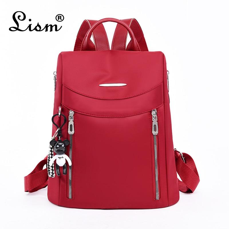 Luxury Ladies Backpack Waterproof Anti-theft Oxford Cloth Travel Bag Designer Multi-pocket Student School Bag 2020 Black Main