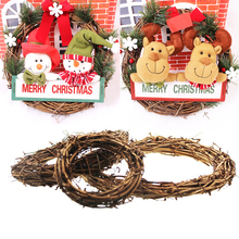 2019 Gift Christmas Rattan Wreaths Door Wall Hanging Garland New Year 2020 Navidad Xmas Party Decoration for home led lights