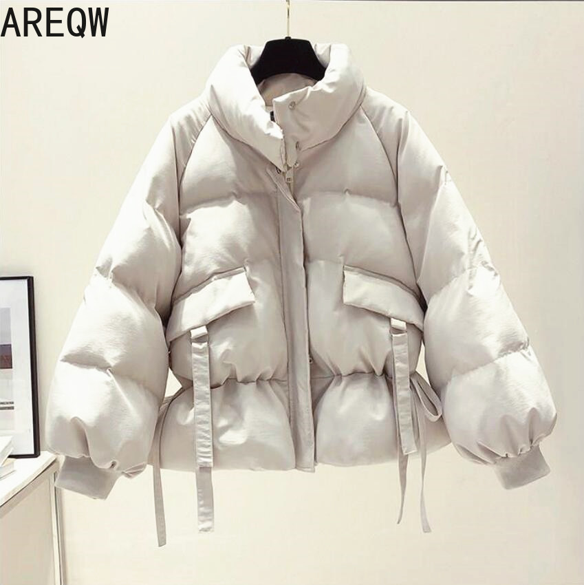 2021 New Women's Clothing Solid Cotton Parkas Women's Outwear Korean Style Autumn Winter Oversized Coats Puffer Jacket