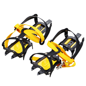 Image 1 - 10 zęby na zewnątrz wspinaczka przeciwpoślizgowe raki regulowany zimowy spacer lodu górskie rakiety śnieżne ze stali manganowej poślizgu pokrowce na buty