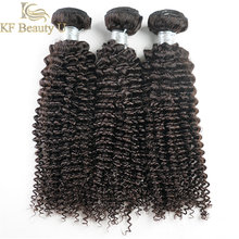 Deep Curly Human Hair Bundles Natural Color Malaysian Remy Sew In Hair Extensions 3/4 PCS Hair Weave for Women