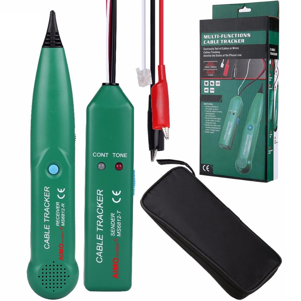 MS6812 Telefon Draht Tracer UTP Werkzeug Kit LAN Netzwerk Kabel Tester Linie Finder Mit original AIMOmeter