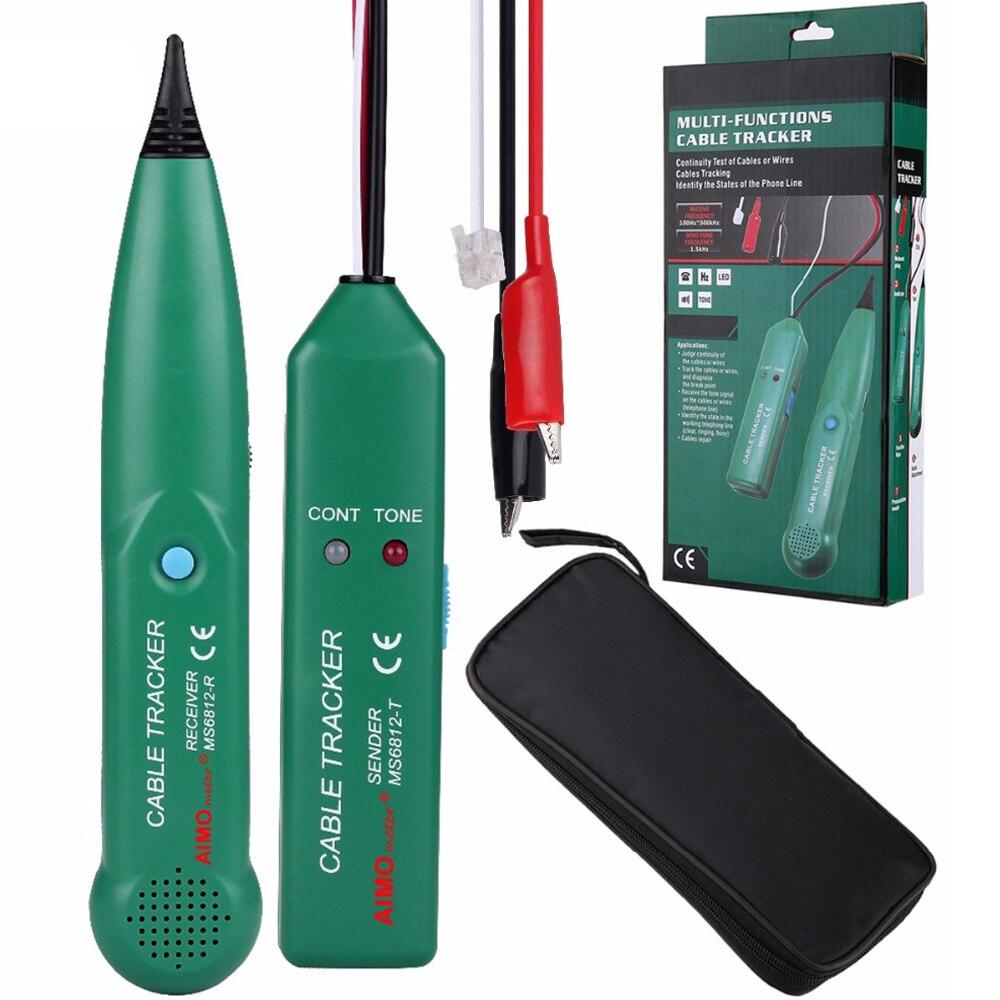 Ms6812 telefone fio tracer utp kit de ferramentas lan cabo rede testador linha localizador com aimometer original