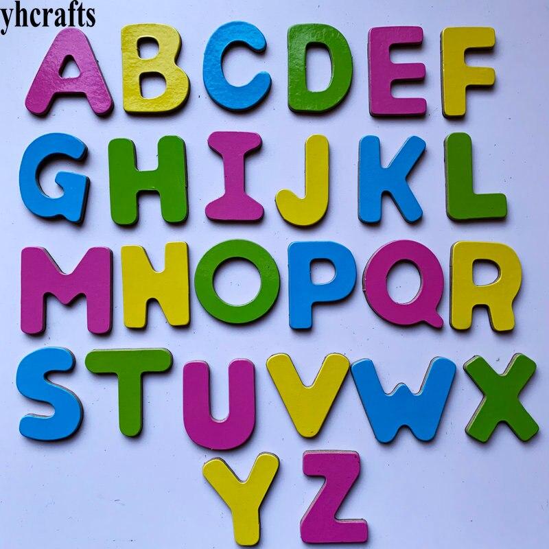 26 шт./лот. Большой алфавит, буквы на магните на холодильник, английский Самообучение, обучайте собственному интеллекту, игрушки «сделай сам»...