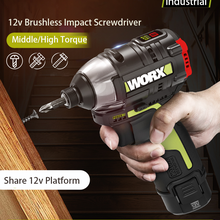WORX 12V Brushless motor Cordless electric Impact Screwdriver WU132 140Nm Adjust Torque professional tool MultI Function