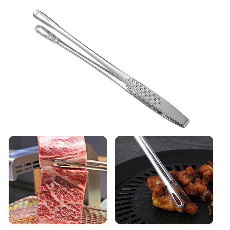 Barbecue-Clamp Serving-Tong Food-Tongs Kitchen-Accessories Steak Stainless-Steel Fish