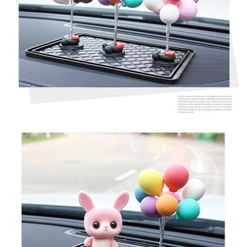 New Charming Auto Ornaments Multicolour Lovely Balloon Car Decoration Mini Console Dashboard Decoration Car Interior Supplies image
