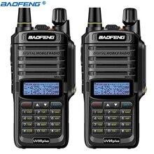2 pçs baofeng UV-9R mais ip67 à prova dip67 água walkie talkie vhf uhf 15w poderoso portátil 10km de longo alcance uv9r rádio presunto