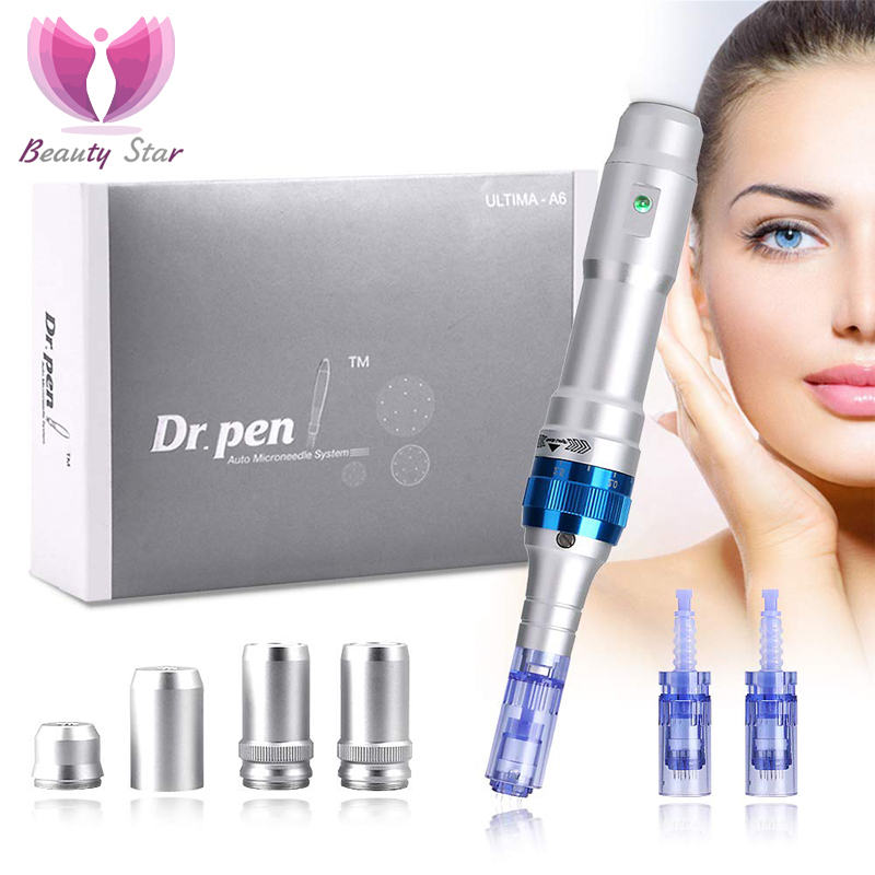 Beauty Star Electric Ultima Dr. Pen A6 Permanent Microblading Tattoo Needles Derma Pen Acne Scar Removal Dr. Pen A6 Microneedle