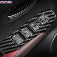 For LEXUS NX 300H 200T Car Interior Carbon Fiber Window Control Switch Panel Auto Sticker Decor Styling LHD RHD Accessaries