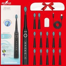 فرشاة الأسنان الكهربائية سونيك ويف أعلى جودة رقاقة ذكية فرشاة الأسنان قابلة للاستبدال تبييض صحي أفضل هدية!