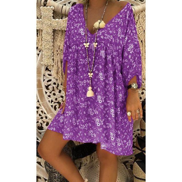 us veteran 2021 Women Dress Plus Size Dresses Women Loose dress Summer Style Feminino Vestido Casual Big Size Ladies Dress 3