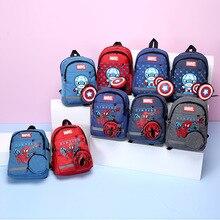 Backpack Action-Figures School-Bag Spiderman Gift Marvel Captain-America Girl Children