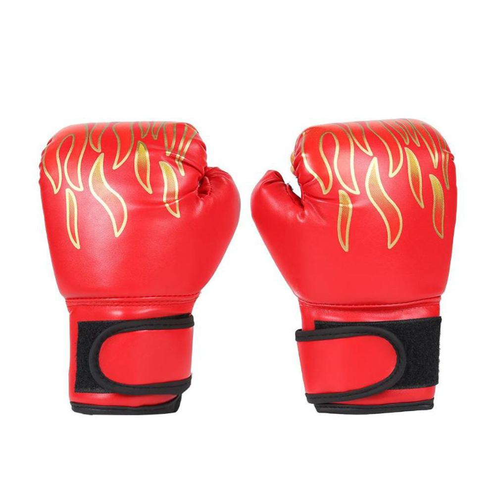 Details about  /Kids Children Boxing Gloves Professional Flame Mesh Breathable Synthetic Leather
