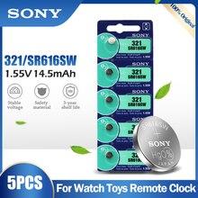 5 adet orijinal Sony 321 SR616SW SR616 14.5mAh 1.55V gümüş oksit pil hesap makinesi oyuncaklar düğme sikke japonya'da yapılan