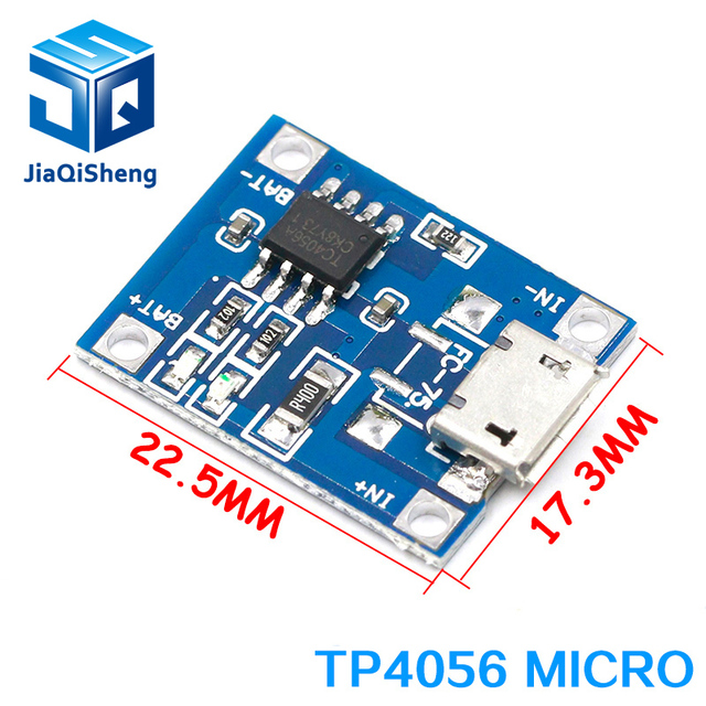 type-c / Micro USB 5V 1A 18650 TP4056 Lithium Battery Charger Module Charging Board With Protection Dual Functions 1A Li-ion 1
