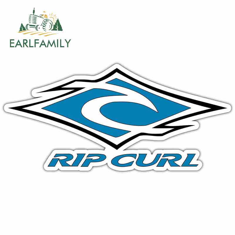 EARLFAMILY 13cm Car Stickers and Decals for Rip Curl Creative JDM Funny Decoration Vinyl Waterproof Trunk Waterproof Car Wrap