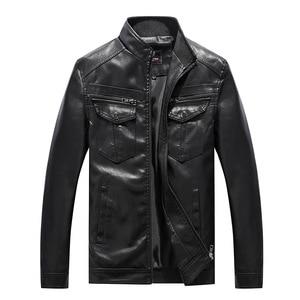 Image 2 - Nowe męskie kurtki skórzane motocykle brytyjska biznesowa moda codzienna wysokiej jakości wojskowa kurtka taktyczna PU męska kurtka Bomber