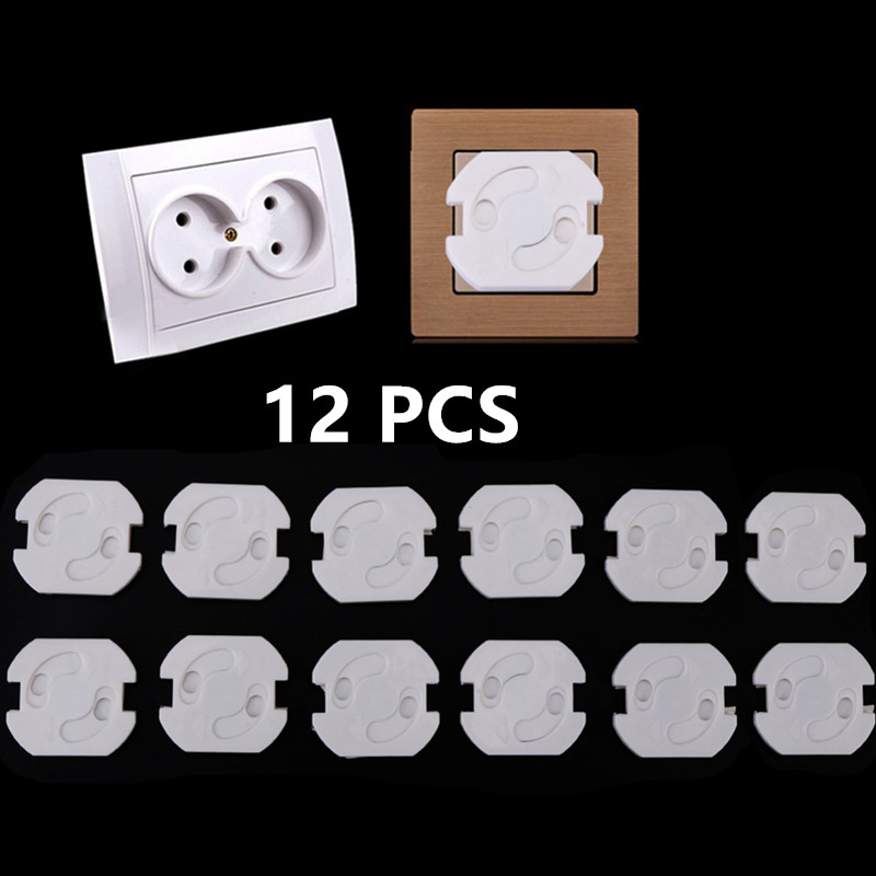 12pcs Plug Socket Cover EU Power Socket Electrical Outlet Covers Kids Child Safety Guard Protection Safety Plug Guard Protector