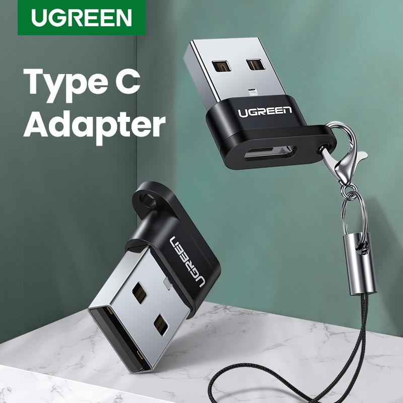 Ugreen USB Type-C Adapter Type C To USB 2.0 Headphone Adapter USB Type C Converters For Samsung Galaxy S10 Macbook USB C Adapter