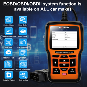 Image 2 - FOXWELL NT510 Elite Multi System OBD2 Scanner for BMW Nissan Renault ABS Bleeding IMMO DPF BMS Reset Works on 2018/2019 Vehicles