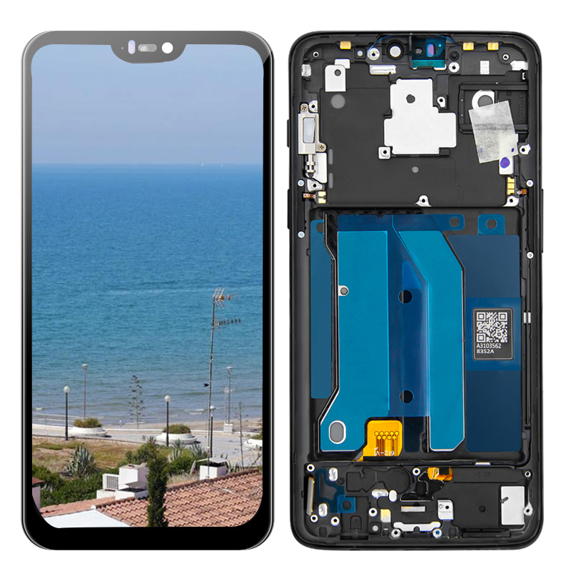 LCD Display For <font><b>Oneplus</b></font> 6 Six One plus 6 1+6 Digitizer Touch <font><b>Screen</b></font> Lcd Display With Frame Repair Part for 1+6 <font><b>A6000</b></font> A6003 image