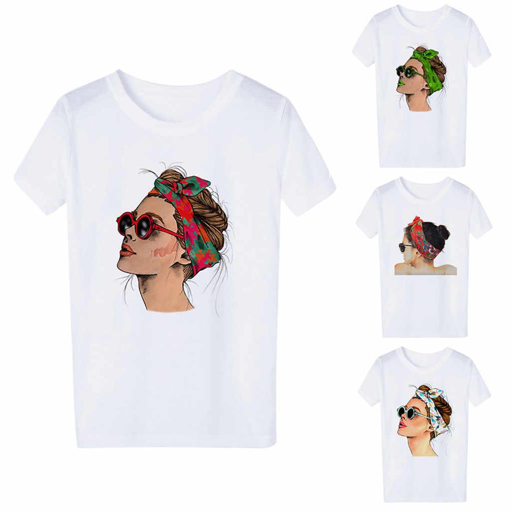 Tshirt Vrouwen Mode Toevallige Korte Mouwen Karakter Dames O-hals T-shirt Tops Camiseta Mujer Top Vrouwen Harajuku T-shirt Camisas