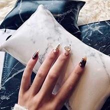 Маникюрные аксессуары для ногтей из искусственной кожи мягкая подушечка для рук и подушечка подставка для ногтей держатель для рук