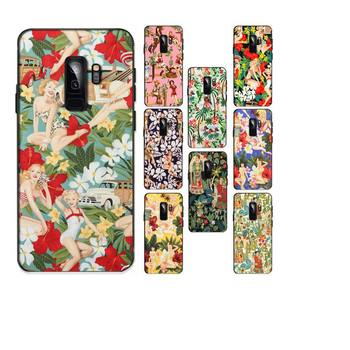 Aloha Girls Fabric by Alexander Henry Phone Case For Samsung Galaxy A50 A30 A71 A40 A60 A50s A30s Note 8 9 S10 Plus S10 S20 image