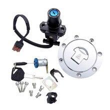 цена на 1 Set Motorcycle Ignition Switch Lock Fuel gas Tank Cap Handle Locks Include Key for Honda CBR600 CBR 600 RR CBR600RR F5 2005