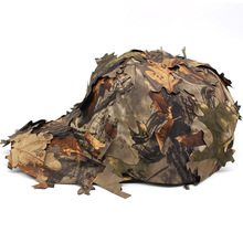 3D Bionic Camouflage Hat Outdoor Hunting Cap Jungle Forest Hiding Blind Leaves Sniper Hat Fishing Hat Bird Watching Camo Cap 2018 outdoor hunting camouflage tents bird watching photography tent shoot bird chair fishing folding chair