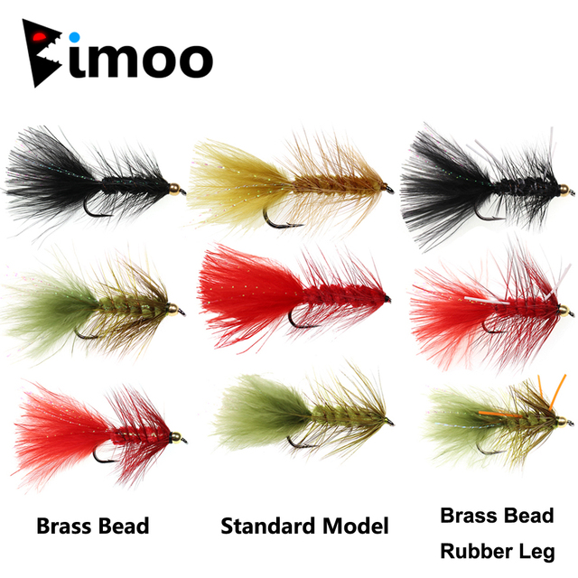 20 Mixed coloured brass bead Headed  Rainbow Dancer  Lures Trout Flies Size 8