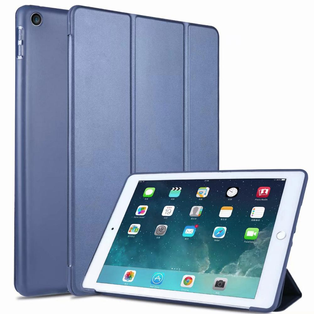 Case For iPad 9.7 inch 6th 2017 2018`Pro 9.7`for ipad 2 3 4 : A1822A1954`A1673`A1396 Honeycomb Soft Shell Smart sleep PU Leather image