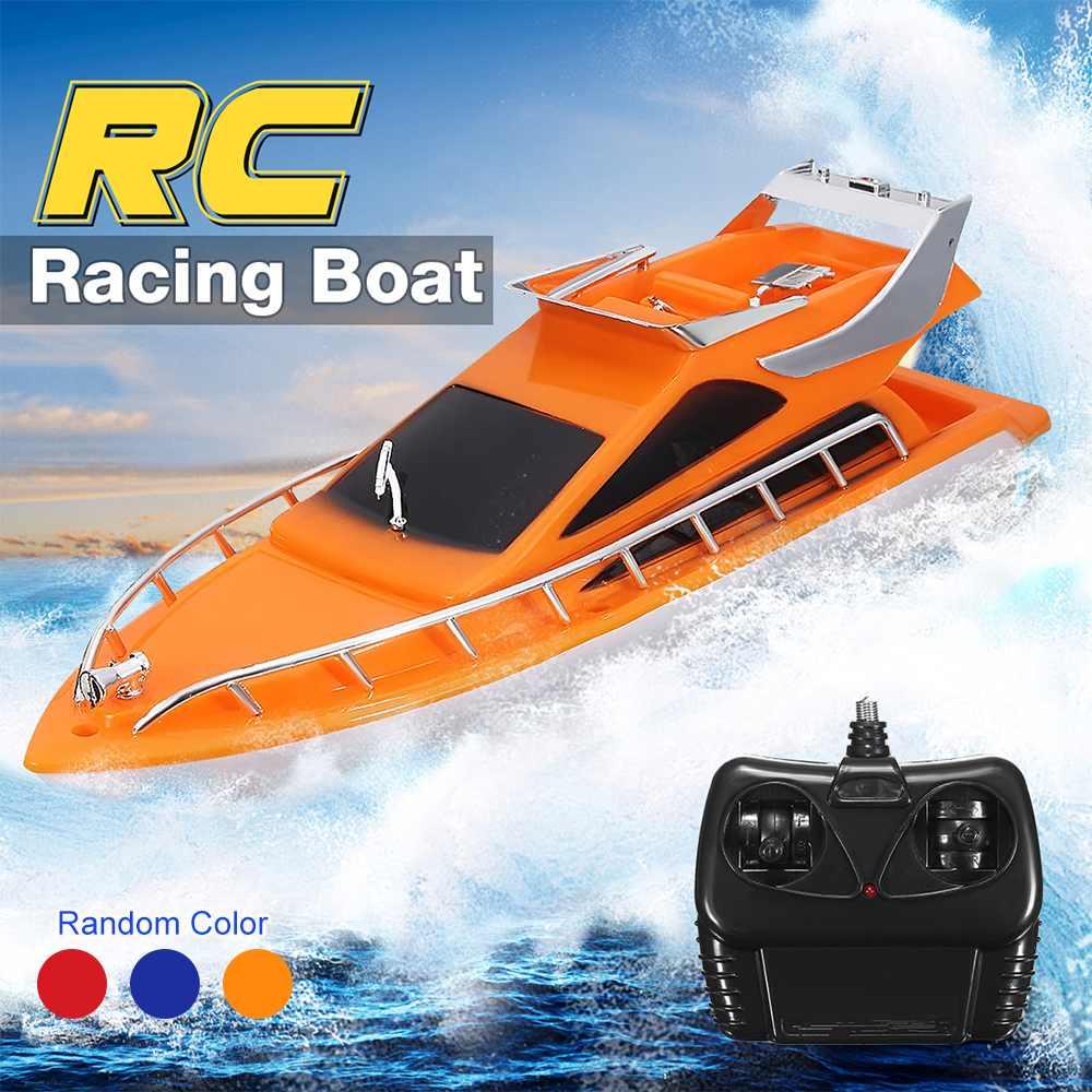 חשמלי צעצוע סירת שלט רחוק Twin מנוע במהירות גבוהה סירת ילדי חיצוני RC מירוץ סירת ילד ילדי צעצוע מתנות