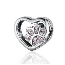 CODEDOG 100% Echt 925 Sterling Silber Fußabdrücke Von Liebe Charms Fit Ursprüngliche 3mmBracelet Perlen DIY Schmuck CMC1191