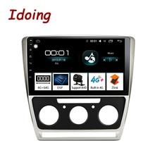 "Idoing 10.2 ""1Din 2.5D รถ Android Android วิทยุเครื่องเล่นมัลติมีเดีย Fit Skoda Octavia 2007 2014 4G + 64G GPS Navigation Fast BOOT WIFI"