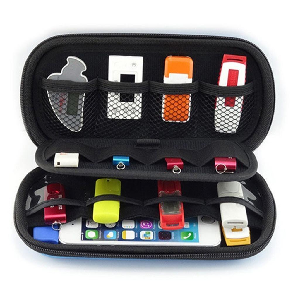 Nwe Mini Digital Products Pouch Travel Storage Bag for USB Flash Drive Memory Card